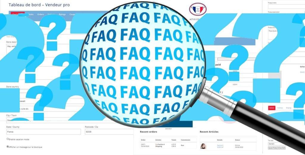 faq-Tableau de bord Vendeur