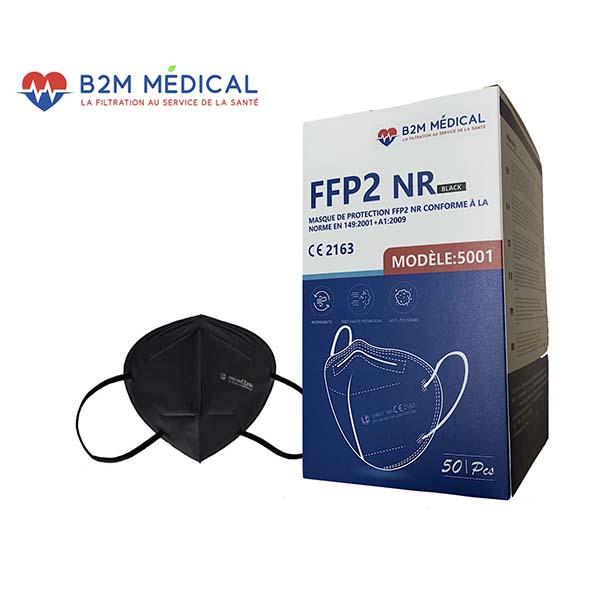 Masque FFP2 noir boite de 50 B2M Medical